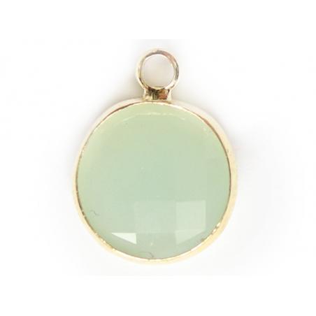 Acheter Pendentif rond en verre à facettes 10mm - menthe clair - 1,49€ en ligne sur La Petite Epicerie - Loisirs créatifs