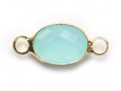Acheter Connecteur ovale à facettes 15mm - bleu clair - 1,39€ en ligne sur La Petite Epicerie - 100% Loisirs créatifs