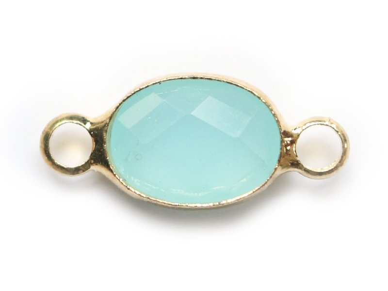 Acheter Connecteur ovale à facettes 15mm - bleu clair - 1,39€ en ligne sur La Petite Epicerie - Loisirs créatifs