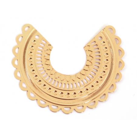 Acheter Pendentif INES - doré à l'or fin 24K - 3,69€ en ligne sur La Petite Epicerie - Loisirs créatifs
