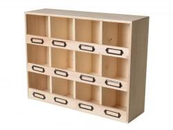 Acheter Étagère 12 compartiments à customiser - 19,99€ en ligne sur La Petite Epicerie - Loisirs créatifs