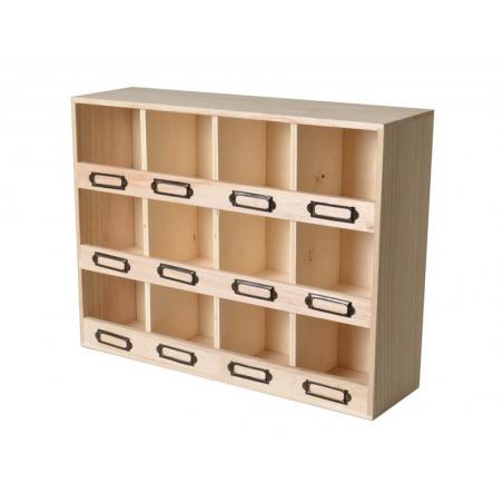 Acheter Étagère 12 compartiments à customiser - 19,99€ en ligne sur La Petite Epicerie - 100% Loisirs créatifs