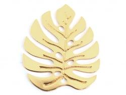 Pendentif feuille de monstera - doré à l'or fin 24K La petite épicerie - 1