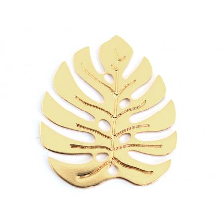 Acheter Pendentif feuille de monstera - doré à l'or fin 24K - 2,59€ en ligne sur La Petite Epicerie - 100% Loisirs créatifs