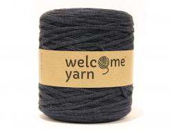 Grande bobine de fil trapilho - fines rayures Bleues/ grises Welcome Yarn - 1