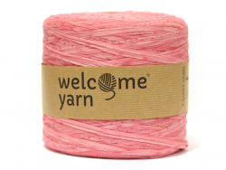 Grande bobine de fil trapilho - tulle rose à pois Welcome Yarn - 1