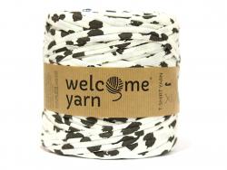 Grande bobine de fil trapilho - motifs pois noirs Welcome Yarn - 1