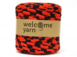 Grande bobine de fil trapilho - rayures rouge et noires Welcome Yarn - 1
