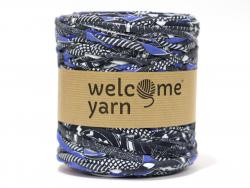 Grande bobine de fil trapilho - Motifs bleus, noirs et blancs Welcome Yarn - 1