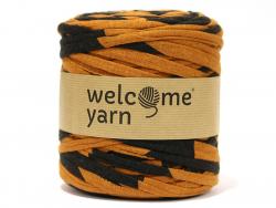 Grande bobine de fil trapilho - rayures camel et noires Welcome Yarn - 1