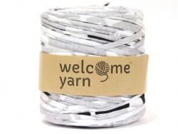 Grande bobine de fil trapilho - rayures grises et blanches Welcome Yarn - 1