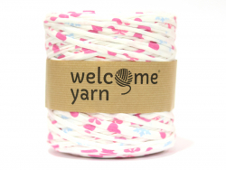 Grande bobine de fil trapilho - motifs pois roses et bleus Welcome Yarn - 1