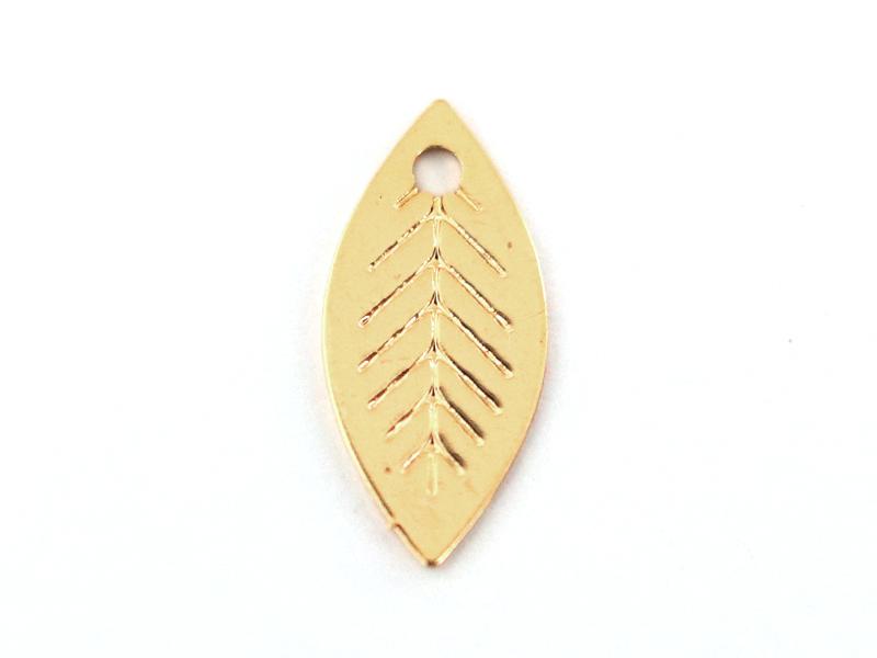Pendentif feuille - doré à l'or fin 24K La petite épicerie - 1