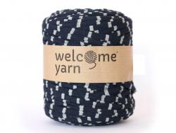 Grande bobine de fil trapilho - rayures grises et noires Welcome Yarn - 1