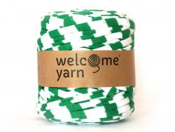 Grande bobine de fil trapilho - rayures vertes Welcome Yarn - 1