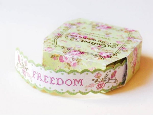 Measuring tape -/Sticky labels - Freedom