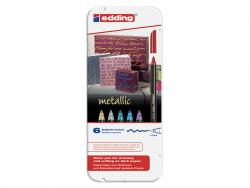 Feutres couleurs métalliques EDDING 1200 - 6 feutres Edding - 1