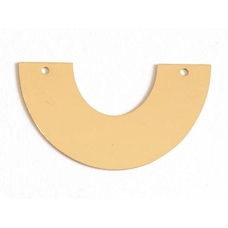 Acheter Pendentif demi-cercle - doré à l'or fin 24K - 2,59€ en ligne sur La Petite Epicerie - Loisirs créatifs