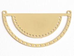 Acheter Pendentif demi-cercle tissage miyuki- doré à l'or fin 24K - 3,39€ en ligne sur La Petite Epicerie - 100% Loisirs cré...