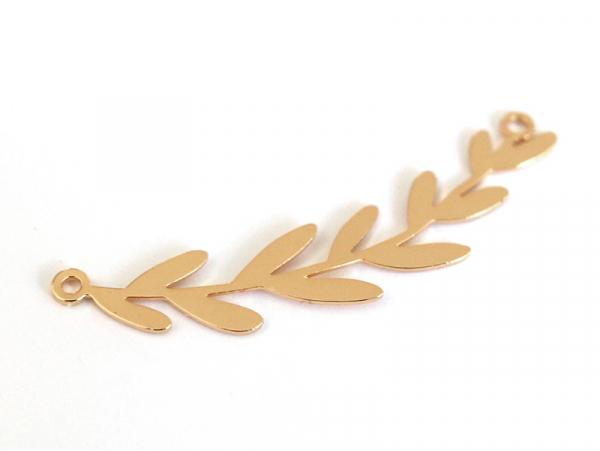 Acheter Pendentif feuille de rameau - doré à l'or fin 24K - 2,99€ en ligne sur La Petite Epicerie - Loisirs créatifs