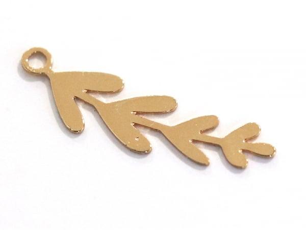 Acheter Pendentif branche 8 feuilles - doré à l'or fin 24K - 1,99€ en ligne sur La Petite Epicerie - Loisirs créatifs