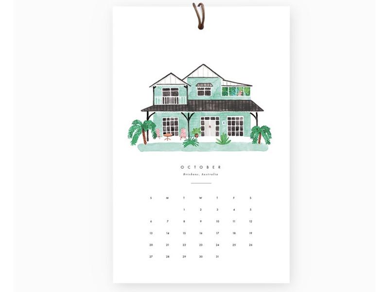 Achat Calendrier 2019.Acheter Calendrier Dream Homes Theme Voyages En Ligne