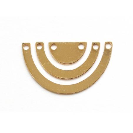 Acheter Connecteur demi cercle - doré à l'or fin 24K - 2,99€ en ligne sur La Petite Epicerie - 100% Loisirs créatifs