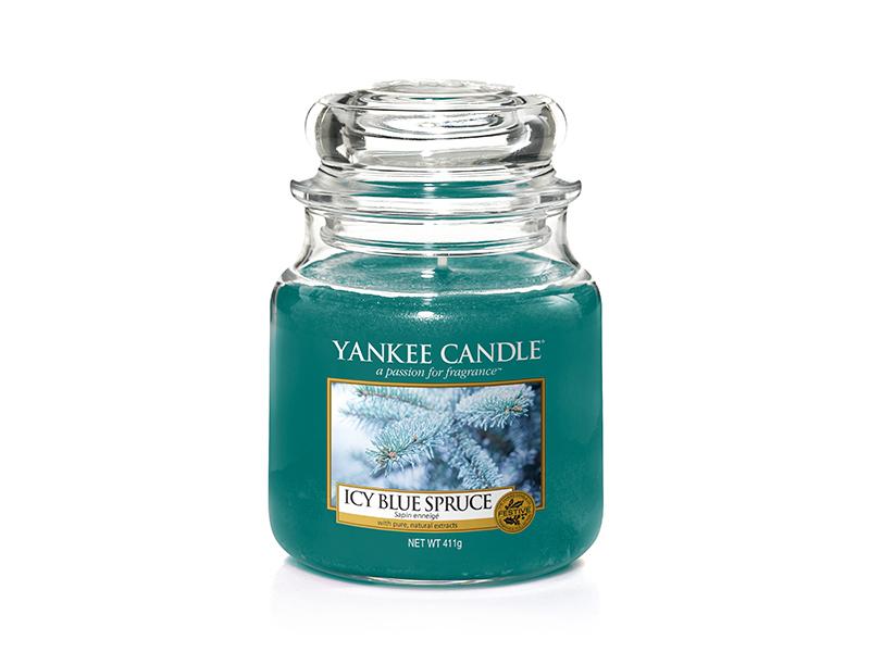 Acheter Bougie Yankee Candle - Icy Blue Spruce / Sapin enneigé - Moyenne Jarre - 24,89€ en ligne sur La Petite Epicerie - 10...