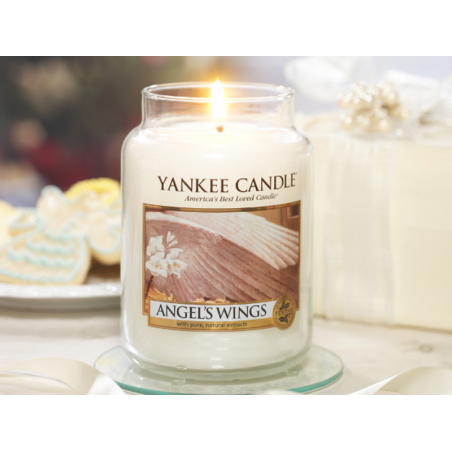 Acheter Bougie Yankee Candle - Angel's Wings / Ailes d'ange - Petite Jarre - 11,89€ en ligne sur La Petite Epicerie - 100% L...