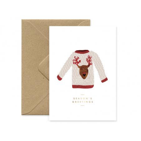 Acheter Carte - Mon joli pull de Noël - 3,49€ en ligne sur La Petite Epicerie - 100% Loisirs créatifs