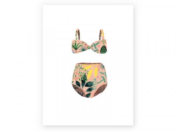 Acheter Affiche aquarelle - Maillot de bain - 18 x 24 cm - 11,99€ en ligne sur La Petite Epicerie - 100% Loisirs créatifs