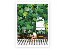Affiche aquarelle - Café -...