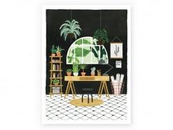 Affiche aquarelle - Bureau...