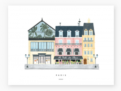Affiche aquarelle - Paris -...
