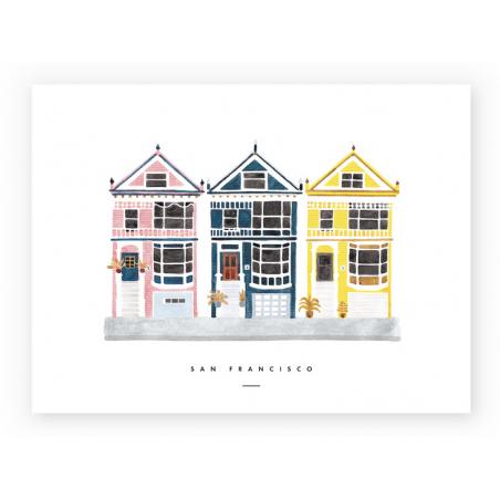 Acheter Affiche aquarelle - San Francisco - 18 x 24 cm - 11,99€ en ligne sur La Petite Epicerie - Loisirs créatifs