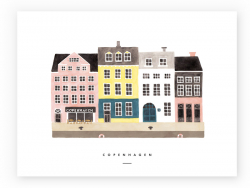 Acheter Affiche aquarelle - Copenhague - 18 x 24 cm - 11,99€ en ligne sur La Petite Epicerie - Loisirs créatifs