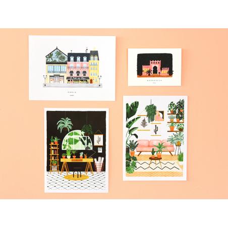 Acheter Affiche aquarelle - Joli balcon - 18 x 24 cm - 11,99€ en ligne sur La Petite Epicerie - Loisirs créatifs