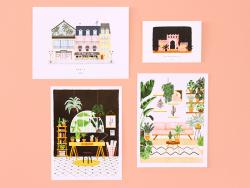 Acheter Affiche aquarelle - Green house - 18 x 24 cm - 11,99€ en ligne sur La Petite Epicerie - Loisirs créatifs