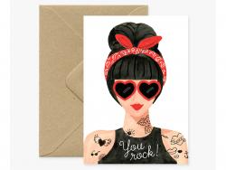 Acheter Carte aquarelle - Hipster Girl - 3,49€ en ligne sur La Petite Epicerie - Loisirs créatifs