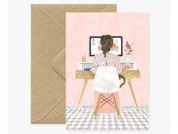 Acheter Carte aquarelle - Girl boss - 3,49€ en ligne sur La Petite Epicerie - Loisirs créatifs