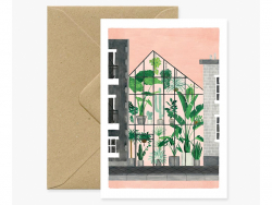 Carte aquarelle - Green house