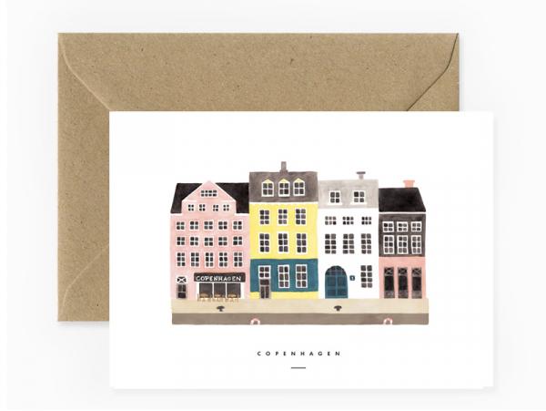 Acheter Carte aquarelle - Copenhagen - 3,49€ en ligne sur La Petite Epicerie - 100% Loisirs créatifs