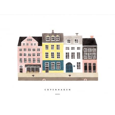 Acheter Carte aquarelle - Copenhagen - 3,49€ en ligne sur La Petite Epicerie - Loisirs créatifs