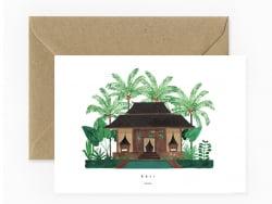 Carte aquarelle - Bali