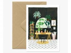 Acheter Carte aquarelle - Bureau végétal - 3,49€ en ligne sur La Petite Epicerie - Loisirs créatifs
