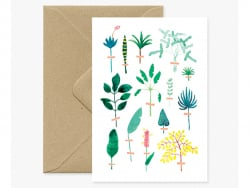 Carte aquarelle - Herbier...