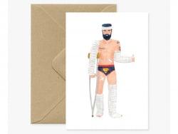 Carte aquarelle - Super Hero