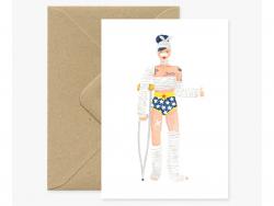 Carte aquarelle - Super Girl