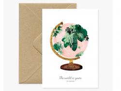 Carte aquarelle - The world
