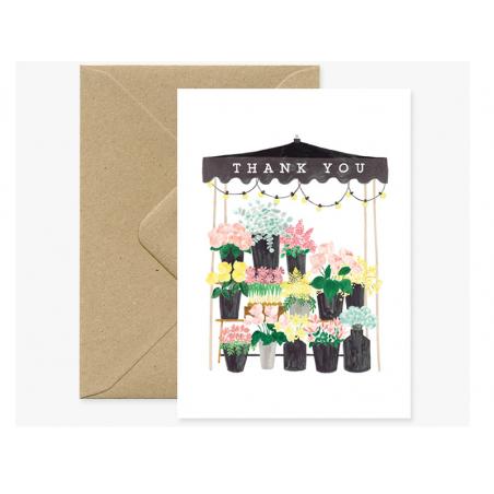 Acheter Carte aquarelle - Thank you - ATWS - 3,49€ en ligne sur La Petite Epicerie - Loisirs créatifs